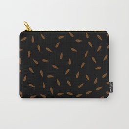 Brown Caramel Drops on Black Background Carry-All Pouch