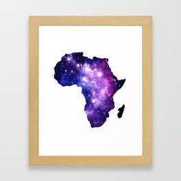 Africa : Purple Blue Galaxy Framed Art Print
