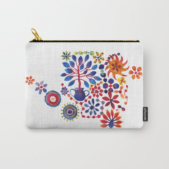 MAGIC TREE ON WHITE Carry-All Pouch