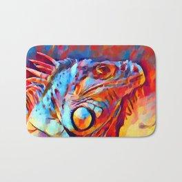 Iguana Watercolor Bath Mat
