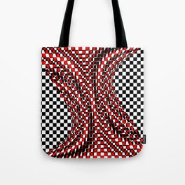 black white red 4 Tote Bag