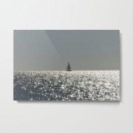 Sparkling Sail Metal Print