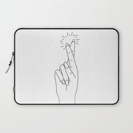 Fingers Crossed Laptop Sleeve