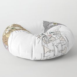 Triple Kitties Floor Pillow