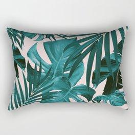 Tropical Jungle Leaves Pattern #3 #tropical #decor #art #society6 Rectangular Pillow