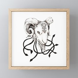 Lucifer's Lil' Baphomet Framed Mini Art Print