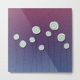 Abstract Flower Design Metal Print