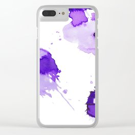 Purple Palette Splashes Clear iPhone Case