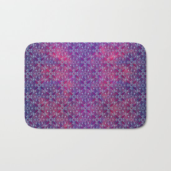 Turkish blue arabesques Bath Mat