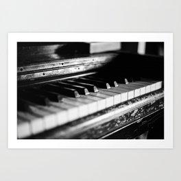Old Piano (35mm Film) Art Print
