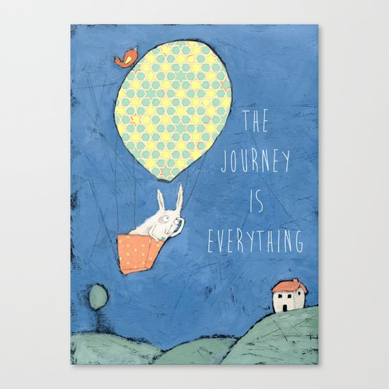 The Journey is Everything Canvas Print