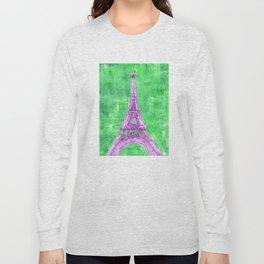 Abstract Eiffel Tower Long Sleeve T-shirt