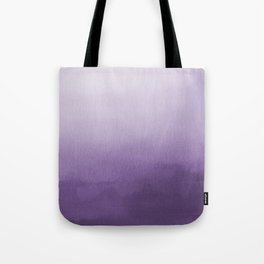 Inspired by Pantone Chive Blossom Purple 18-3634 Watercolor Abstract Art Tote Bag
