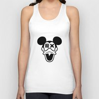 mickey Tank Tops featuring Mickey Duck by cmyka