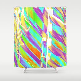 Light Dance Candy Ribs edit1 Shower Curtain