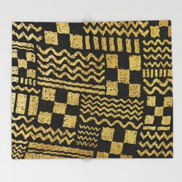 Gold Fuse Throw Blanket