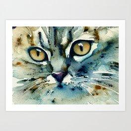 Carmen Cat Portrait Art Print