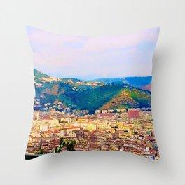 Italian Cityscape Throw Pillow