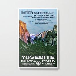 Yosemite Vintage Travel Poster Metal Print