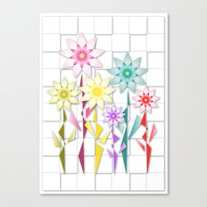Origami  Flowers Canvas Print