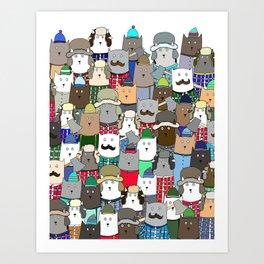 LumberCats Art Print