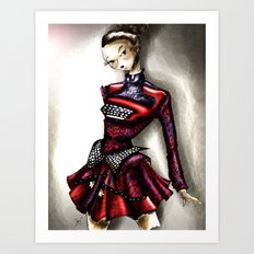 Mary Ktrantzou Typo dress Art Print