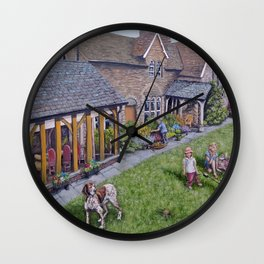 Lazy Sunday in Llanellen Wall Clock