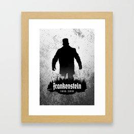 Frankenstein 1818-2018 - 200th Anniversary Framed Art Print