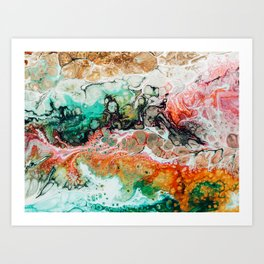 Painted Reality #abstract #painting Art Print