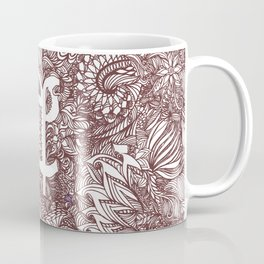 A - Sinhala - Brown Coffee Mug