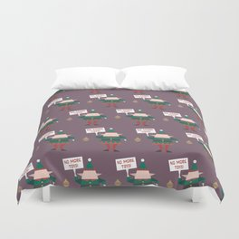 Little Helpers on Strike (Patterns Please) Duvet Cover