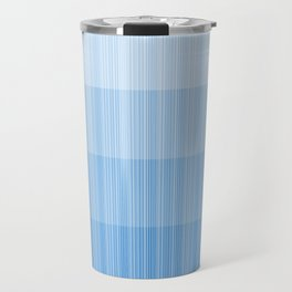 Four Shades of Light Blue with Stripes Travel Mug