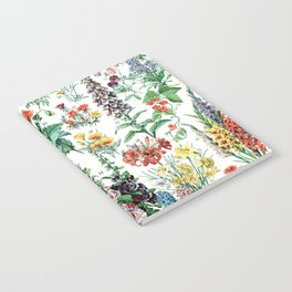 Adolphe Millot - Fleurs A - French vintage poster Notebook