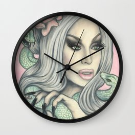 Queen of Snakes Wall Clock
