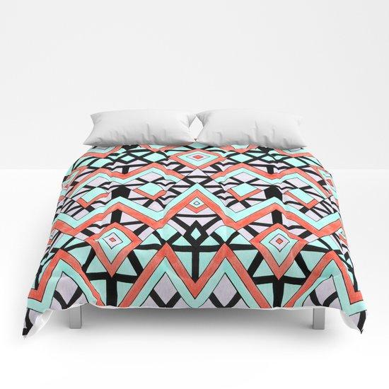 Geometric Mountains Comforters