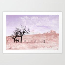 The Lone Horse In The San Rafael Valley Of Arizona Art Print