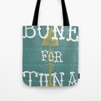 boardwalk empire Tote Bags featuring bone for tune (boardwalk empire) by christopher-james robert warrington
