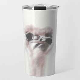 Ostrich - A Curious Bird Travel Mug