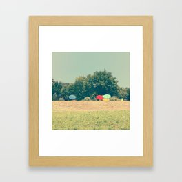 sunny colors Framed Art Print