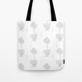 Elephants with Balloons Tote Bag