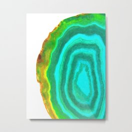 Druze turquoise agate Metal Print