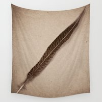 feather Wall Tapestries featuring Feather by Jessica Torres Photography