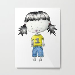 Bratty Belinda Metal Print