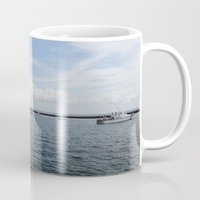 boats Mugs featuring Boats by Kim Hawley