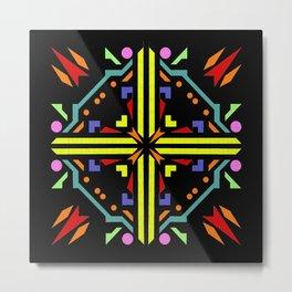 jigsaw black background Metal Print
