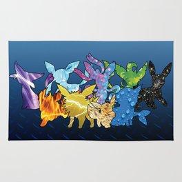 """""""The Dream Team"""" - X & Y Eeveelutions Rug"""