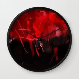 Red celebrations Wall Clock