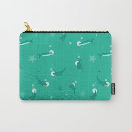 Teal Whale Shark Carry-All Pouch
