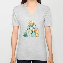 Cute Dino Pattern Unisex V-Neck