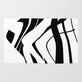 Organic No.4 Black & White #design #society6 #artprints Rug